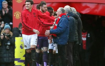 Manchester United swap child mascots for older 'guests of honour'